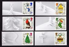2016 CHRISTMAS SMILERS Set of Six SINGLE LITHO STAMPS + LABELS from LS102