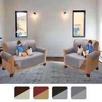 REVERSIBLE QUILTED ANTI SLIP Sofa Cover Set Furniture Protector Throw Waterproof