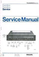 PHILIPS Receiver ta 22ah603 Manual Schema Elettrico Originale circa 24 pagine