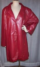 NWT $120 MAGGIE BARNES 2X 54 BUST RED SNAKE PRINT BUTTON FRONT POCKET JACKET