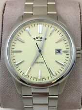 Rotary Gents Cream Dial  Oxford  Watch  GB005092/32   SAPPHIRE GLASS Free UK P&P