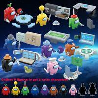 8Pcs/Set Among Us Game Model Building Blocks Kit Bricks Classic Kids Toys Gift