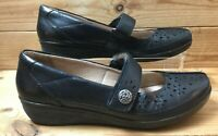 Ladies Clarks Collection Soft Cushion Black Mary Jane Leather Shoes UK 4 Eur 37