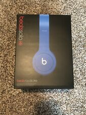 Beats by Dr. Dre Blue Solo HD On the Ear Wired Headphones w/ Case,Cords, Box