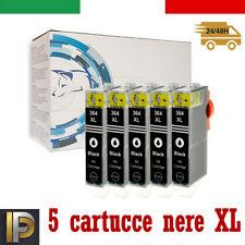 5 cartucce Nere con CHIP per HP B109 Deskjet 3070 3070A D5445 3520 364XL