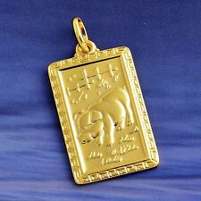 China Zodiac Boar Pendant Yellow Gold Filled Free Shipping Free Shipping