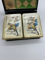 Vintage 2 Decks of Playing Cards for Patience German Directions Complete Book