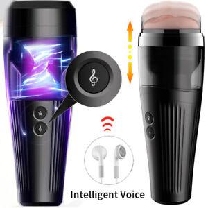 Handsfree Automatic Rotating Male Masturbater Telescopic Adult Stroker Sex Toy