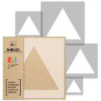 5x pochoirs réutilisables en plastique // 34x34cm à 9x9cm  // TRIANGLE / enfants