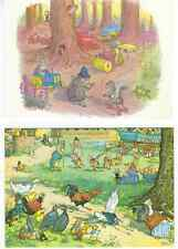 "2 MOLLY BRETT COLLECTABLE POSTCARDS ""Summer Sports"" & ""Woodland Policeman"""