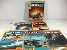 Harpoon Naval Game Rule Book Lot GDW Ship Sub ASW Forms UNPUNCHED Larry Bond