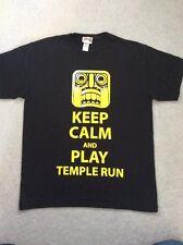 Black TEMPLE RUN T-SHIRT TOP age 11-12 years VGC