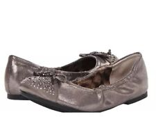 Sam Edelman Girl's Metallic Leather Beatrix Studded Ballet Flats 1054 Sz 13.5 M