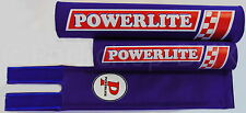 NEW Powerlite old school BMX bicycle padset pads 1978-83 logo MADE IN USA - BLUE