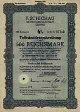 F. Schichau AG Elbing Elblag 1943 Bremerhaven Danzig Weser Werft 500 RM - Lit. B