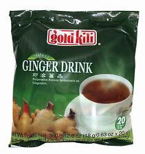 4 Packs of Gold Kili Instant Chinese Ginger Tea Drink 20x18g Sachets (80 total)