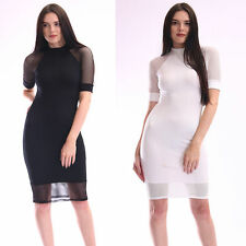 Polyester Crew Neck Geometric Regular Size Dresses for Women