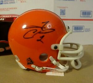 Autographed TIM COUCH Signed Cleveland Browns NFL Mini Football Helmet