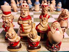 "Rare SAC Alice In Wonderland Complete Chess Set - Studio Anne Carlton 3.5"" King"