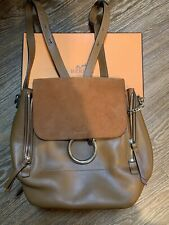 Chloe Faye Small Brown Backpack Bag,  Calfskin Leather, Great Condition