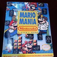 Mario Mania Nintendo Player's Guide - Official 1991 Magazine Strategy Book Games