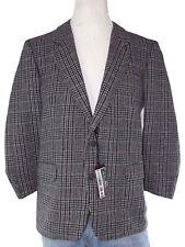 facis giacca blazer uomo blu lana grigio tartan taglia it  52 r xl extra large