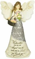 Pavilion Gift Godmother Angel with Basket of Flowers Figurine 82303 6 Inch New