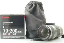 【BOXED UNUSED】 Canon EF 70-200mm f/4 L IS USM Zoom Lens Ultrasonic from JAPAN