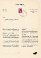 LOT DE 12 DOCUMENTS PHILATELIQUE DES PTT - ANNEE 1971 (BIS)