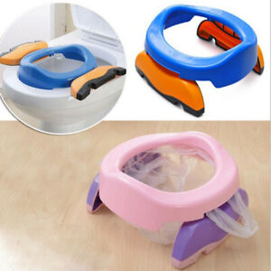 Foldable Kids Travel Potty Seat Potty Trainers + 10 PP Liners