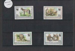 Burundi 1992 WWF The Serval set MNH per scan