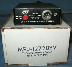 MFJ-1272BYV Microphone/TNC Switch for K-VHF. Overall appearance is  excellent