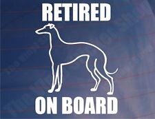 RETIRED GREYHOUND ON BOARD Car/Van/Window Vinyl Sticker/Decal for Dog Owners