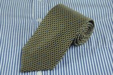 Tino Cosma Men's Tie Navy & Gold Scale Silk Necktie 58 x 3.5 in. $125 Retail NEW