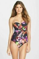 Ted Baker London 'Cascading Floral' Underwire One-Piece Swimsuit Sz 32 A/B NWOT