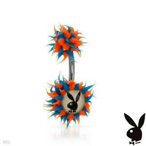 PLAYBOY Body Ring With White Plastic ,2 tone Rubber and Stainless steel