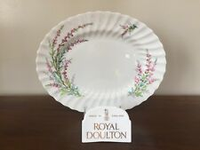 """Royal Doulton BELL HEATHER SCALLOPED 12"""" Oval Serving Platter"""