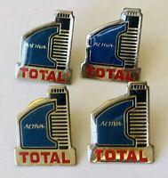 Activa Total Petrol Gas Fuel Oil Advertising Pin Badge Set Of 4 Vintage (J4)