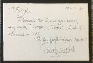 Bobby Rydell hand signed autographed card 1984 musician COA