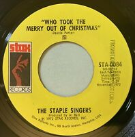 The Staple Singers - Who took the merry out of Christmas 45 Stax Soul VG+ mp3