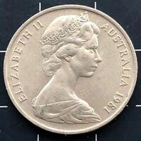1981 AUSTRALIAN 10 CENT COIN