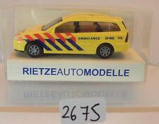 Rietze 1/87 Nr. 50982 Ford Focus Turnier Kombi Ambulance OVP #2675