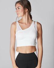 Michi Glory Crop Top Sports Bra Size Small Light Grey White Athleisure