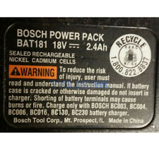 Re-build service for Bosch BAT181 or BAT180 18-Volt NiCad 2.0AH Battery