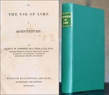 Use of Lime in Agriculture 1849 Johnson 1st Ed England Illust 19th Century Farm
