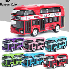 Bus Model Cars 1/43 Alloy Tour Simulation London Double Decker Bus Vehicle Toy#