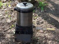 Compact Smokehouse of steel for Smoking fish and meat Garden HOME NEW