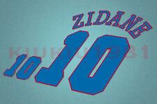 France Zidane #10 EURO 1996 Awaykit Nameset Printing