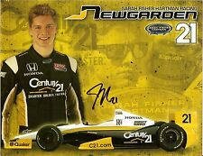 2013 JOSEF NEWGARDEN signed #21 INDIANAPOLIS 500 PHOTO CARD INDY CAR JOSEPH JN