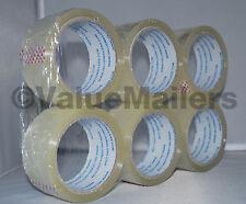 18 Rolls Quality Packaging 2 Mil Box Carton Sealing Tape 2x55 Yards 2 X 165